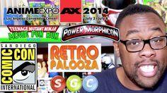 UPCOMING BLACK NERD CONVENTIONS! Teenage Mutant Ninja Turtles 5K Run, Black Dynamite Q&A, Anime Expo, ScrewAttack SGC, San Diego Comic-Con, Power Morphicon & Retropalooza!