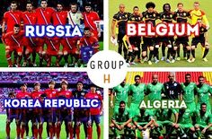 Russia, Belgium, Korea Republic and Algeria battle in Group H of World Cup 2014 Soccer Cup, Soccer Fifa, Play Soccer, Football Soccer, Soccer Teams, Fifa 2014 World Cup, Brazil World Cup, Soccer World, World Of Sports