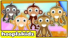 Five Little Monkeys | Nursery Rhymes | Popular Rhymes by HooplaKidz #HooplaKidz #HooplaKidzNurseryRhymes