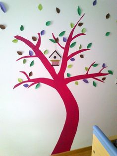 Decorar la pared con un árbol