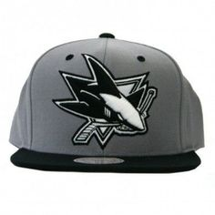 5150f426dc5 Mitchell   Ness SAN JOSE SHARKS SUMMER 2012 NHL Grey 2Tone Arch Undervisor  Print with Velcro Closure  sanjosesharks  san  jose  sharks  snapback