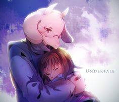 Undertale - Frisk and Toriel Home is here in your arms