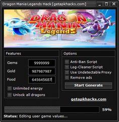 Hack and Keygen: Dragon Mania Legends Hack