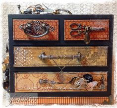 Fayth by design: Mixed Media 4-Drawer Organizer (DT Project for Reneabouquets)
