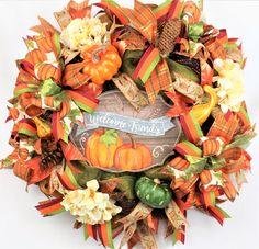 Fall Wreath Fall Welcome Wreath Large Fall Wreath Autumn