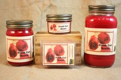 Fresh Cut Roses Scented Candle,  Fresh Cut Roses Scented Wax Tarts, 26 oz, 12 oz, 4 oz Jar Candles or 3.5  Clam Shell Wax Melts by CountryRichCreations on Etsy