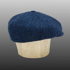 Harris Tweed Shelby Peaky Blinders Hat Bakerboy Paperboy Newsboy Flat Cap  Retro Navy Grey Herringbone Bespoke Large Any Size XL Custom Made c872046a3afe