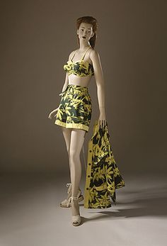 Woman's two-piece bathing suit and jacket, late 1940s. From the collections of the LA County Museum of Art.