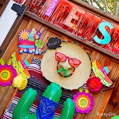 Guests will know they are in for a fun fiesta with a funny sombrero face at the front gate!