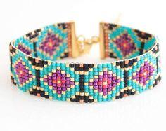 Bead weave bracelet bead loom bracelet miyuki by NandNJewelry