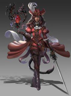 ArtStation - Red Mage, Lana Kerr