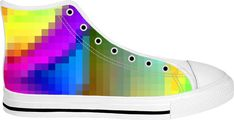 Pixeled Color Colorful pixeled pattern footwear