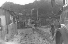 O bairro Matadouro deriva seu nome do grande matadouro público ali edificado em 1908. A construção municipal destinava-se ao abate de gado bovino e animais suínos. Depois da inauguração da linha ferroviária Itajaí/Blumenau, em 1954, grande quantidade de pessoas carentes do interior do Vale do Itajaí, invadiram os terrenos públicos e iniciou a ocupação desordenada. Um grupo de senhoras católicas inaugurou a Capela de N. Sra das Graças com intuito de auxiliar jovens dessa região.