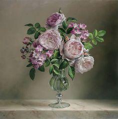 Still Life Painting by Pieter Wagemans Art Floral, Flower Vases, Flower Art, Flower Arrangements, Painting Still Life, Still Life Art, Gifts For An Artist, Flower Of Life, Botanical Prints