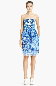 Prabal Gurung Strapless Bustier Dress available at #Nordstrom