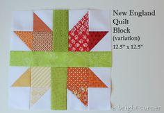 New England Quilt Block tutorial