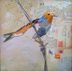 "ART AND LIFE of a figurative collage artist from Orlando, FL. Creating ""Paintings"" with bits of torn paper, applied as brush strokes!"