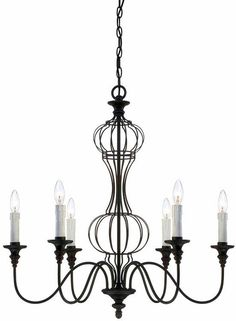 View the Savoy House 1-6010-6 Abagail 6 Light 1 Tier Chandelier at LightingDirect.com.