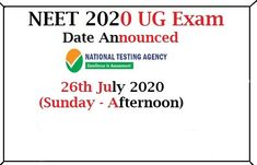 More than 15 lakhs MBBS aspirants applied for NEET medical entrance exam this year. If you are one of those students, here is some good news for you. Amidst pandemic effect, NEET 2020 exam date, as well as the release date for NEET […] Good News, Neet Exam, Entrance Exam, Human Resources, Study Abroad, Assessment, How To Apply, Dating, Students
