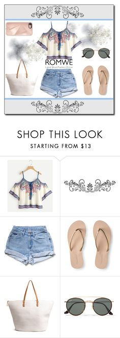 """""""Romwe color"""" by kreseviclaura ❤ liked on Polyvore featuring WALL, Levi's, Aéropostale, H&M, Ray-Ban and Rebecca Minkoff"""