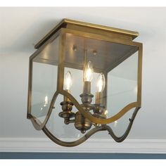 Gothic Arch Flush Ceiling Lantern - 2 finishes
