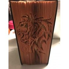Tribal lion Book Folding Patterns / Templates and Book Folding Software on Bookami® Lion Book, Tribal Lion, Book Folding Patterns, Tribal Patterns, Book Pages, Software, Templates, Books, Models