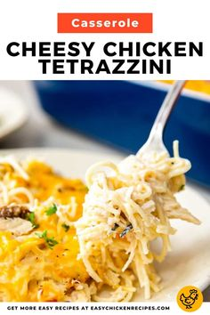 Chicken Tetrazzini is a fantastic dish to make if you want a creamy pasta dish that you can make with ease. Hearty, cheesy and comforting, this Italian inspired casserole is so delicious! Chicken Tetrazzini Casserole, Chicken Tetrazzini Recipes, Chicken Casserole, Casserole Dishes, Casserole Recipes, Cheesy Chicken, How To Cook Chicken, Creamy Pasta Dishes, Italian Chicken Recipes