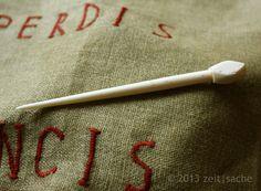 Replica of a roman / germanic hairpin handmade from bone from the onlineshop zeitsache on Dawanda.