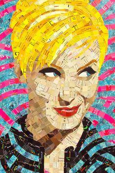 junk mail art - Sandhi Schimmel Gold