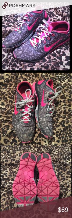 LEOPARD NIKES Leopard print nikes, size nine. In great preworn condition. NO TRADES OR HOLDS SO DO NOT ASK! Lowballers will be ignored! Size 9, they would fit a 8.5-9 perfectly Nike Shoes Athletic Shoes