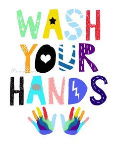 Kids Bathroom Art, Bathroom Posters, Bathroom Prints, School Bathroom, Small Bathroom, Funny Toilet Signs, Hand Washing Poster, School Murals, Kids Wall Decor