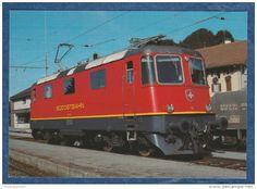 SOB Südostbahn - Re 4/4 II Nr. 42 (ex SBB Nr. 11352) 1983 An Südostbahn Verkauft - Trains - Railway - Trains  Switzerland  #railway #postcard #train #bahn #ferrovia #ansichtskarten #cartoline #cartepostale #locomotive #lokomotive