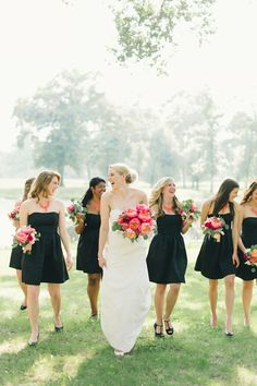 'Maids in Black via Southern Weddings