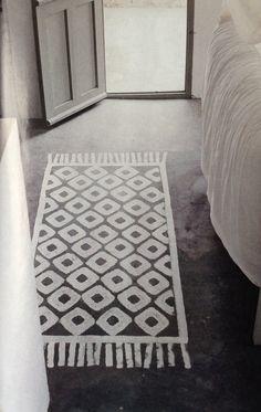 Exceptional Tapis Trompe Lu0027oeil Peint à La Chaux Sur Sol Ciment Design Ideas