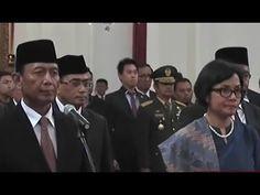 Pelantikan Menteri Baru Hasil Reshuffle Kabinet Jokowi Jilid 2
