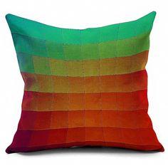 7.93$  Watch here - http://dik5m.justgood.pw/go.php?t=203168801 - Ombre Plaid Printed Sofa Cushion Throw Pillowcase 7.93$