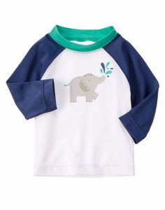 Gymboree Boys 12-18M Navy Elephant Long Sleeve Rash Guard NWT #Gymboree #SwimTop