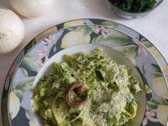 Tagliatelle in crema di spinaci