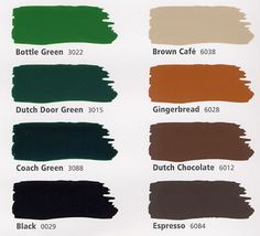 The Classic European Color Chart - Fine Paints of Europe for the front door