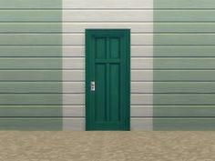 """Mod The Sims - Two-Tile """"Four-Panel Door"""""""