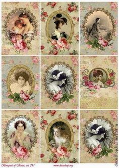Hoy os traigo imágenes vintage para imprimir con figuras, la mayoría femeninas.  Seguro que les dais buen uso   Enlaces:   http://papirolas...