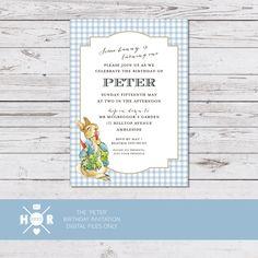 Printable - The 'Peter Rabbit' Birthday Invitation by hudsonmeetrose on Etsy