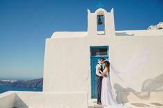 Real Wedding - Cliff Top Santorini Elopement - You Mean The World To Me : You Mean The World To Me
