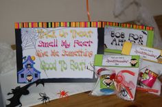 Special offer Halloween Themed Printable Party Park which includes a template for free treat box by WendysPrintableParty