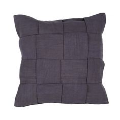 Jaipur Rugs Solid Pattern Gray Cotton Pillow TAB04