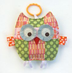 Betty the Patchwork Owl Crinkle Toy