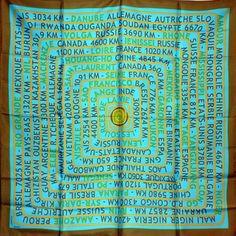 81bab23fdcd Foulard carré de soie Hermès Les sources de la vie