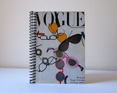 Spiral Notebook Sunglasses 4 x 6 by Ciaffi on Etsy, $12.50