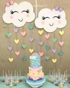 baby shower decorations 859272803890346181 - Ideas For Baby Shower Decoracion Arcoiris Source by dijanaro Rainbow Birthday Party, Unicorn Birthday Parties, Diy Birthday, Rainbow Decorations, Birthday Party Decorations, Baby Shower Decorations, Craft Party, Cloud Party, Rainbow Baby