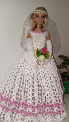 Vestido de noiva b e b roupa de crocher feito com cléa 1000